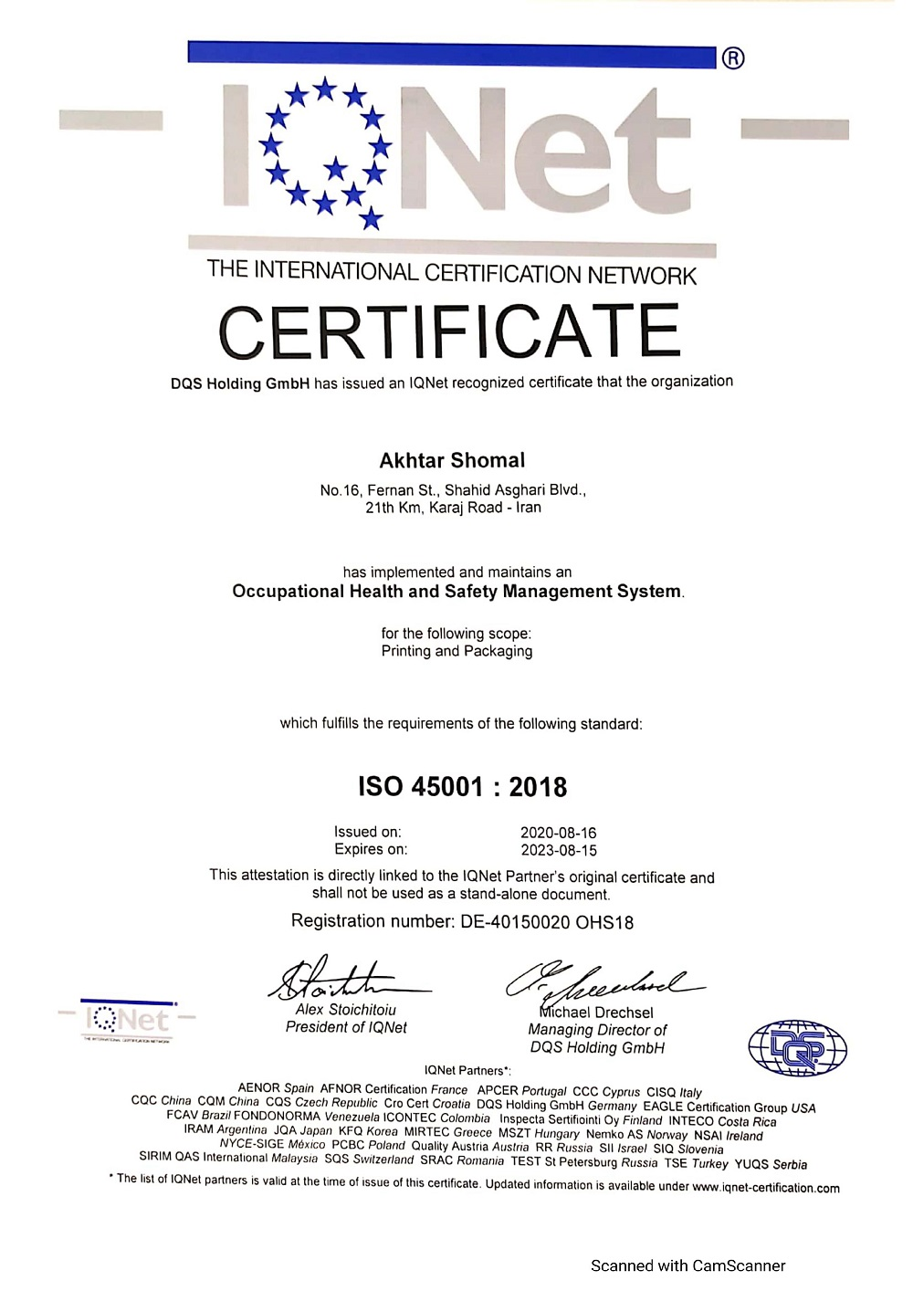 ISO 45001-2018